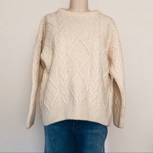 Vintage Burberry Fisherman's Cable Sweater